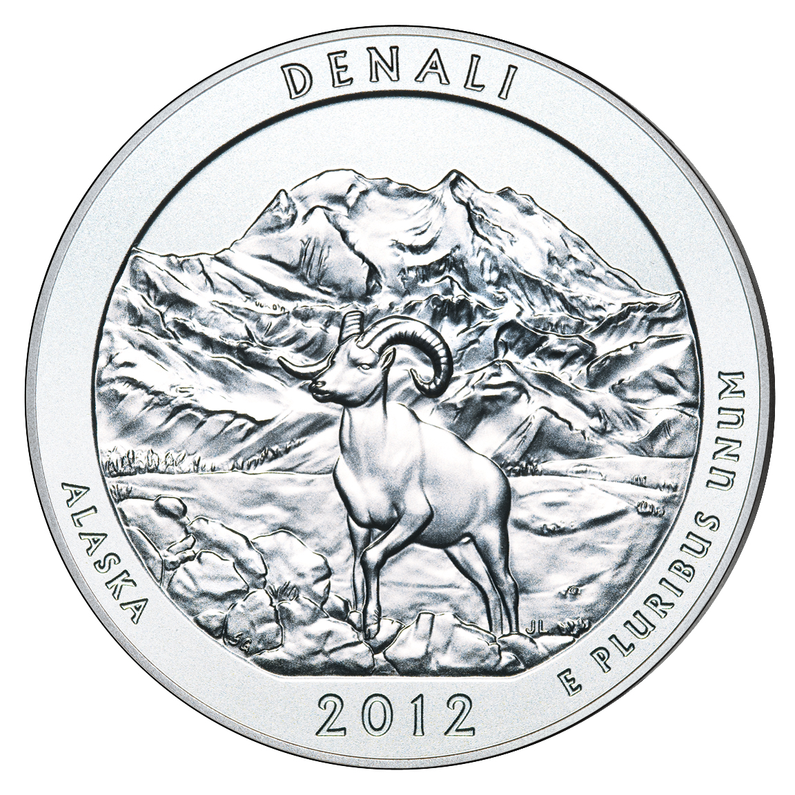 Denali National Park Quarters And  Oz Silver Uncirculated Coin - Us national park quarters book