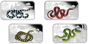 2013 Year of the Snake 1oz Silver Rectangle Four-Coin Set
