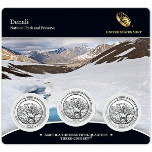 2012 Denali National Park America the Beautiful Quarters Three-Coin Set