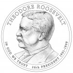 2013 Theodore Roosevelt Presidential $1 Coin (line-art)