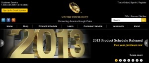2013 US Mint Product Schedule (US Mint website image)