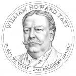 2013 William Howard Taft Presidential $1 Coin (line-art)