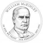 2013 William McKinley Presidential $1 Coin (line-art)