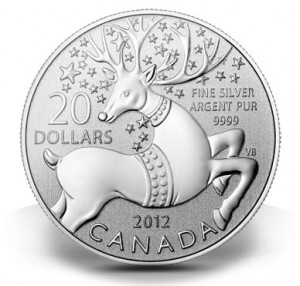 Canadian-2012-20-Silver-Magical-Reindeer-Commemorative-Coin