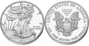 2013 American Eagle One Ounce Silver Proof Coin (US Mint image)