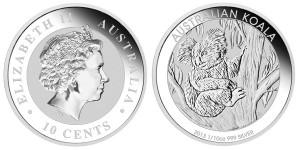 2013 Australian Koala 1_10 Oz Silver Coin