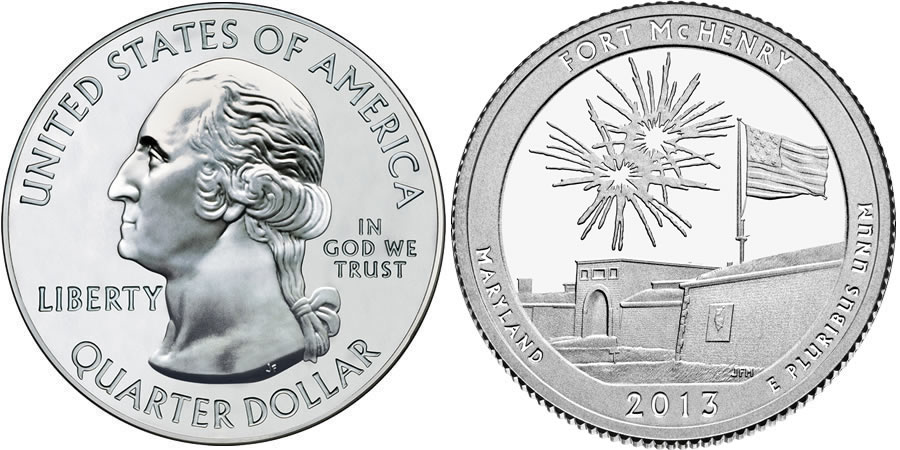 2013 Fort McHenry America the Beautiful Quarter