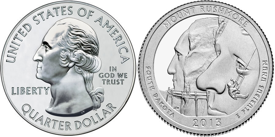2013 Mount Rushmore America the Beautiful Coin