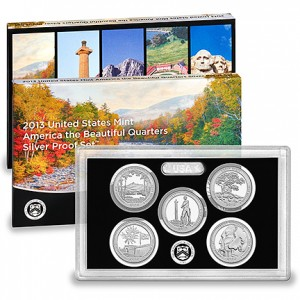2013 United States Mint America the Beautiful Quarters Silver Proof Set™