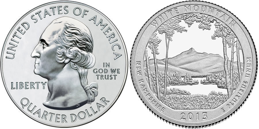 2013 White Mountain America the Beautiful Quarter