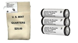 2013 White Mountain Quarter Bags and Rolls