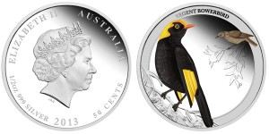 2013 Birds of Australia Regent Bowerbird Silver Proof Coin