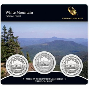 2013 White Mountain National Forest America the Beautiful Quarters Three-Coin Set™