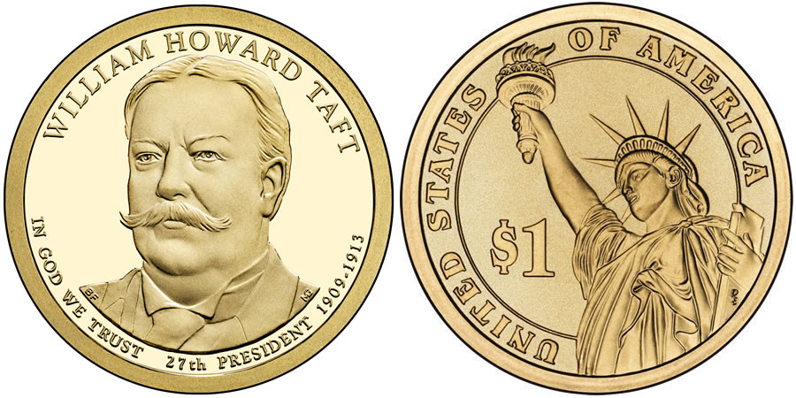 2013 William Howard Taft Presidential 1 Coin