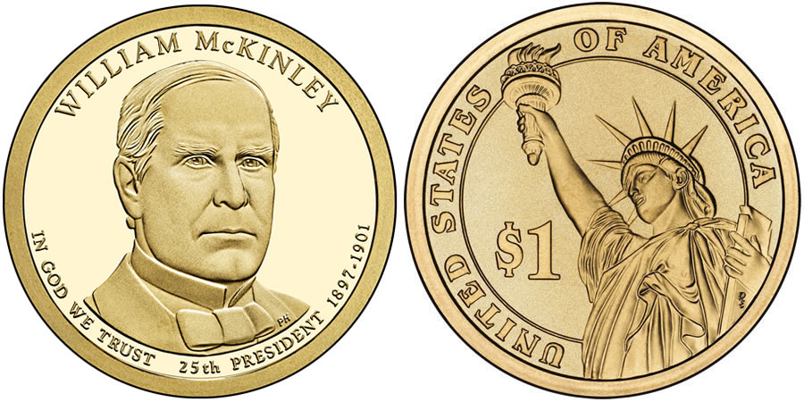 2013 William McKinley Presidential 1 Coin
