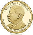 Theodore Roosevelt Presidential $1 Coin