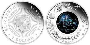 2013 Australian Opal Kangaroo Silver Proof Coin