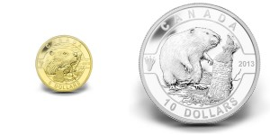 2013 Beaver Fine Gold and Silver Coins (Royal Canadian Mint images)