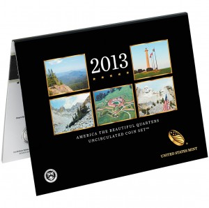 2013 America the Beautiful Quarters Uncirculated Coin Set™ (US MInt image)