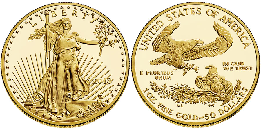 2013 American Eagle Gold Proof Coin (US Mint images)