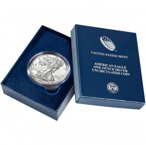 2013 American Eagle One Ounce Silver Uncirculated Coin Packaging (US Mint image)