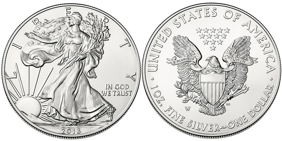 2013 American Eagle Silver Uncirculated Coin (US Mint images)