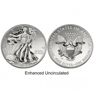 2013 American Eagle West Point Two-Coin Silver Set Enhanced Uncirculated Coin (US Mint image)