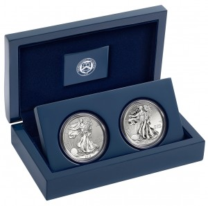 2013 American Eagle West Point Two-Coin Silver Set (US Mint image)