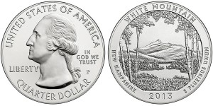 2013 White Mountain Silver Uncirculated Coin (US Mint images)