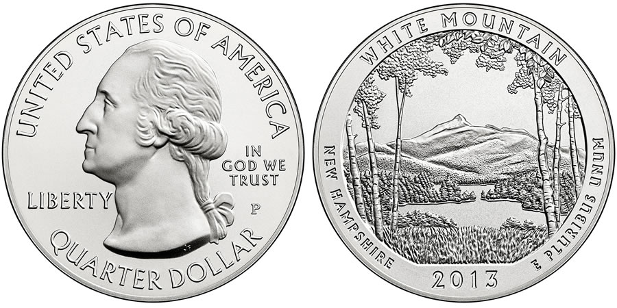 2013 White Mountain Silver Uncirculated Coin