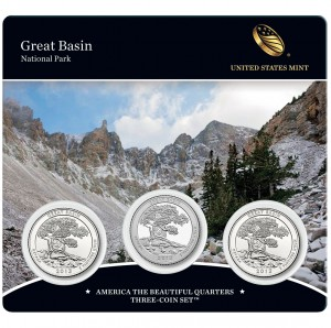 2013 America the Beautiful Quarters Three-Coin Set™ – Great Basin National Park (US Mint image)