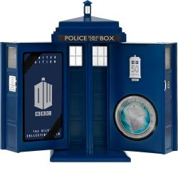 Doctor-Who-50th-Anniversary-2013-Tardis-Silver-Coin-Tardis-Case-Open