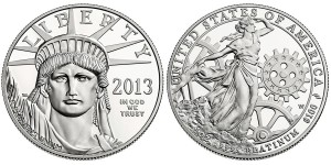 2013 American Eagle Platinum Proof Coin (US Mint images)