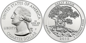 2013 Great Basin Silver Uncirculated Coin (US Mint images)