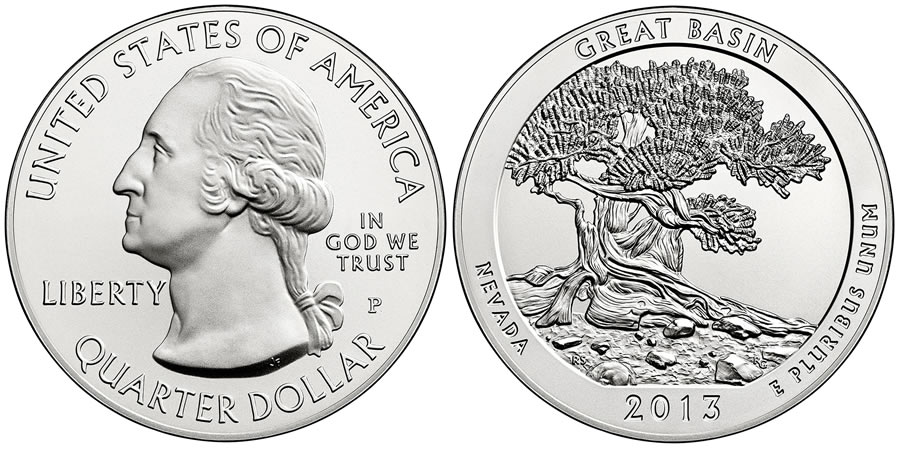 2013 Great Basin America the Beautiful Coin