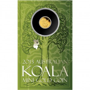 2013 Mini Koala 0.5g Gold Coin Packaging (Perth Mint image)