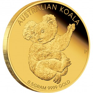 2013 Mini Koala 0.5g Gold Coin (Perth Mint image)