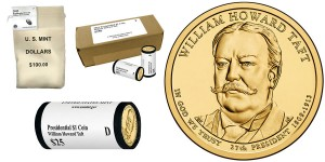 William Howard Taft Presidential $1 Coins (Bags, Boxes and Rolls) (US Mint images)