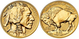 2013 American Buffalo One Ounce Gold Reverse Proof Coin (US Mint images)