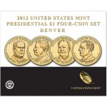 2013 Presidential $1 Four-Coin Set - Denver (US Mint image)