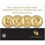2013 Presidential $1 Four-Coin Set - Philadelphia (US Mint image)