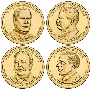 2013 Presidential $1 Four-Coin Sets (US Mint image)