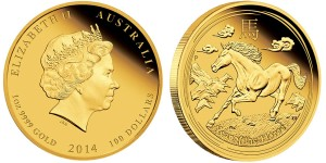 2014 Year of the Horse Gold Proof Coins