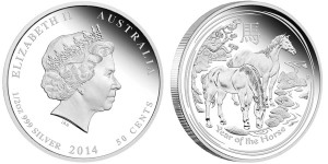 2014 Year of the Horse Silver Proof Coin