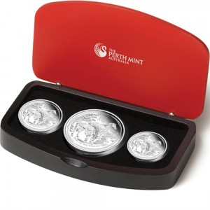 2014 Year of the Horse Silver Proof 3-Coin Set