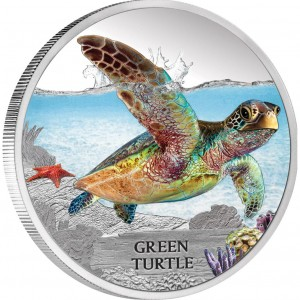 Endangered-Extinct-Green-Turtle-Silver-Coin