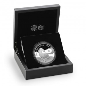 Lunar Year of the Horse 2014 UK Five-Ounce Silver Proof Coin (Royal Mint image)