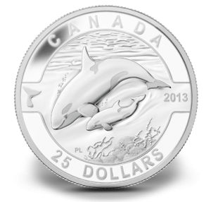 Orca 1 oz Fine Silver Coin (Royal Canadian Mint image)