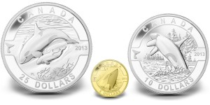 Orca Gold and Silver Coins (Royal Canadian Mint images)