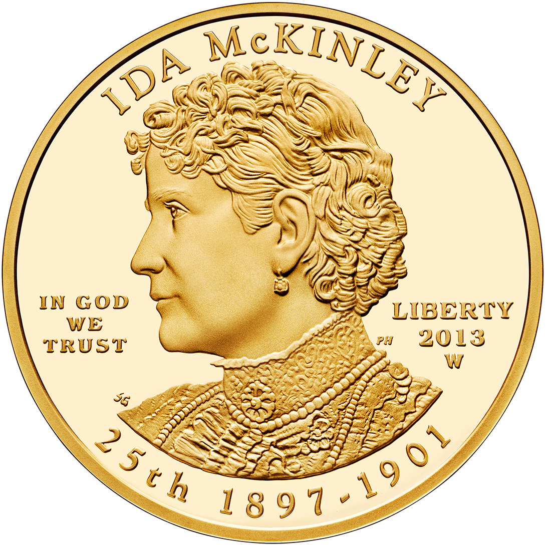 2013 Ida Mckinley First Spouse Gold Coins Released World